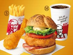 KFC デラックスプレミアムチキンフィレサンドセット